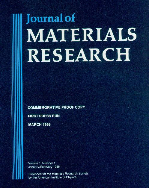 Journal of Materials Research
