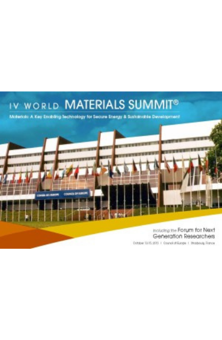 Fourth World Materials Summit, Strasbourg, France, October 2013