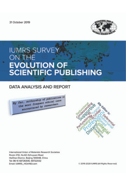 Survey on the Evolution of Scientific Publishing – REPORT on RESULTS